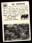 1951 Topps Magic #68  Joe Johnson  Back Thumbnail