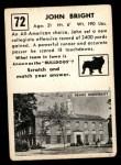 1951 Topps Magic #72  John Bright  Back Thumbnail