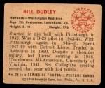 1950 Bowman #29  Bill Dudley  Back Thumbnail