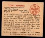 1950 Bowman #79  Tony Adamle  Back Thumbnail