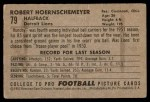 1952 Bowman Small #79  Bob Hoernschemeyer  Back Thumbnail