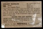 1952 Bowman Small #109  Volney Quinlan  Back Thumbnail