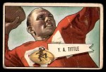1952 Bowman Small #17  Y.A. Tittle  Front Thumbnail