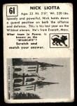 1951 Topps Magic #61  Nick Liotta  Back Thumbnail