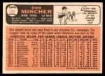 1966 Topps #388  Don Mincher  Back Thumbnail