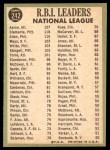 1967 Topps #242   -  Hank Aaron / Rich Allen / Roberto Clemente NL RBI Leaders Back Thumbnail