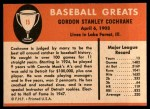 1961 Fleer #15  Mickey Cochrane  Back Thumbnail