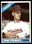 1966 Topps #283  Jim Perry  Front Thumbnail