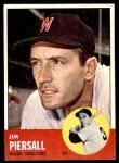 1963 Topps #443  Jimmy Piersall  Front Thumbnail