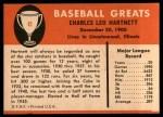 1961 Fleer #41  Gabby Hartnett  Back Thumbnail