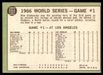 1967 Topps #151   -  Moe Drabowsky 1966 World Series - Game #1 - Moe Mows Down 11 Back Thumbnail