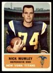 1962 Fleer #65  Nick Mumley  Front Thumbnail