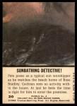 1969 Topps Mod Squad #20   Sunbathing Detective Back Thumbnail