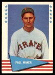 1961 Fleer #85  Paul Waner  Front Thumbnail