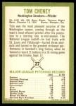 1963 Fleer #27  Tom Cheney  Back Thumbnail