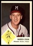 1963 Fleer #45  Warren Spahn  Front Thumbnail