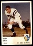 1961 Fleer #162  Ron Mix  Front Thumbnail