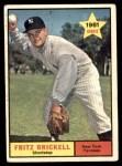 1961 Topps #333  Fritz Brickell  Front Thumbnail