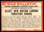 1965 Philadelphia War Bulletin #35   Ocean-Going Garage Back Thumbnail