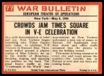 1965 Philadelphia War Bulletin #77   Tears of Joy Back Thumbnail