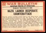 1965 Philadelphia War Bulletin #55   Battle of the Bulge Back Thumbnail
