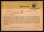1961 Fleer #170  Dave Smith  Back Thumbnail