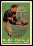 1958 Topps #118  Babe Parilli  Front Thumbnail