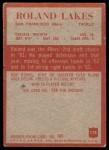 1965 Philadelphia #178  Roland Lakes   Back Thumbnail