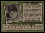 1971 Topps #108  John Cumberland  Back Thumbnail
