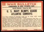 1965 Philadelphia War Bulletin #21   Silent Sentinel Back Thumbnail