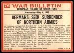 1965 Philadelphia War Bulletin #76   Nazis Give Up Back Thumbnail