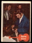 1956 Topps / Bubbles Inc Elvis Presley #18   Signing Session Front Thumbnail