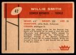 1960 Fleer #47  Willie Smith  Back Thumbnail