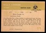 1961 Fleer #171  Billy Cannon  Back Thumbnail