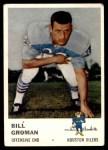1961 Fleer #172  Bill Groman  Front Thumbnail