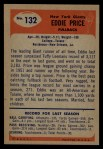 1955 Bowman #132  Eddie Price  Back Thumbnail