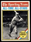1976 Topps #342   -  Rogers Hornsby All-Time All-Stars Front Thumbnail