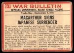 1965 Philadelphia War Bulletin #87   Surrender! Back Thumbnail