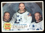1969 Topps Man on the Moon #55 B  -  Neil Armstrong / Michael Collins / Edwin Aldrin First Men On The Moon Front Thumbnail