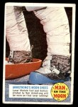 1969 Topps Man on the Moon #11 A  Armstrong's Moon Shoes Front Thumbnail