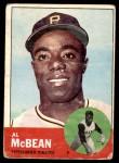 1963 Topps #387 YEL Al McBean  Front Thumbnail