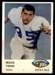1961 Fleer #138  Mack Yoho  Front Thumbnail