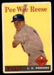 1958 Topps #375  Pee Wee Reese  Front Thumbnail
