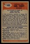 1955 Bowman #103  Carl Taseff  Back Thumbnail