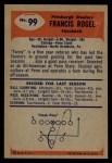 1955 Bowman #99  Fran Rogel  Back Thumbnail