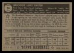 1952 Topps #24  Luke Easter  Back Thumbnail
