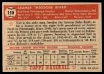 1952 Topps #150 CRM Ted Beard  Back Thumbnail