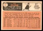 1966 Topps #306  Ty Cline  Back Thumbnail
