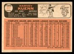 1966 Topps #372  Harvey Kuenn  Back Thumbnail
