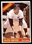 1966 Topps #9  Clete Boyer  Front Thumbnail